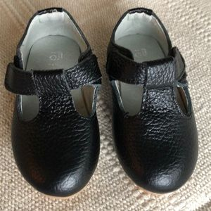 Other - Black Leather t-strap shoes